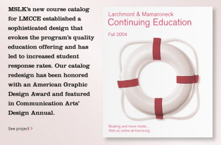MSLK's Course Catalog Wins American Graphic Design Award