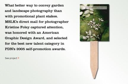 MSLK's Direct Mail Promotion for Kristine Foley is Recognized for Excellence in Design