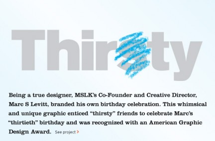 MSLK's Thirst/Thirty Logo Receives Award