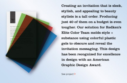 MSLK Wins American Graphic Design Award for Redken Elite Color Invitation