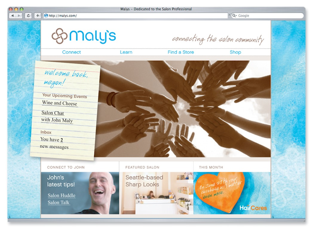 Maly's: Website