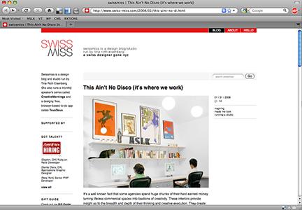 MSLK's Studio on Swissmiss and This Ain't No Disco