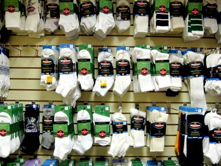 "The ""Wall of Socks"""