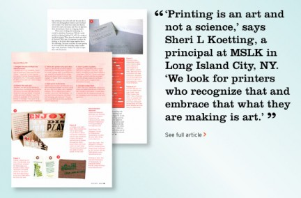 MSLK Recognized for Outstanding Typography