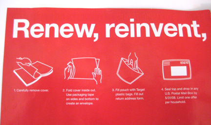 Target Retote Instructions