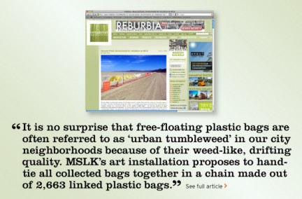 """""""Urban Tumbleweeds"""" Catches the Attention of Bloggers"""