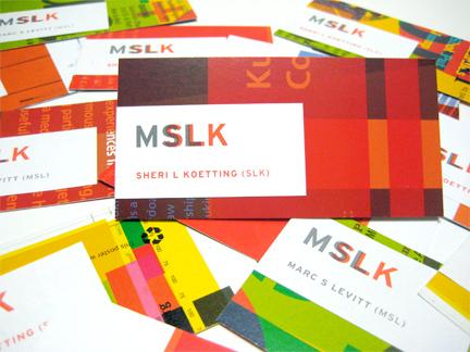 MSLK's New Business Cards