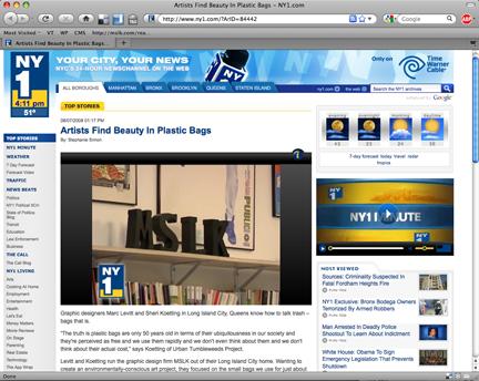 """NY1 Documents MSLK'S """"Tumbleweeds"""""""