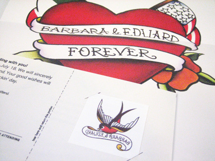Ed and Barbara Wedding Invitation