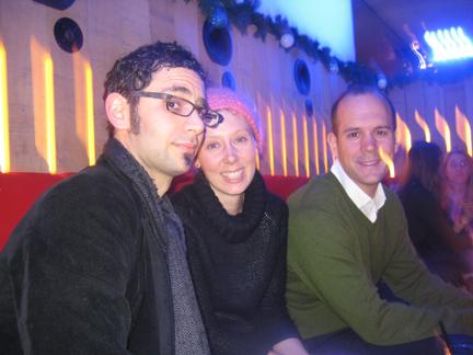 Marc Levitt, Ellen Johnston and Jason Davis at Pop Burger