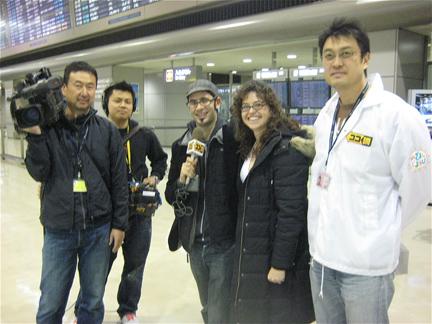 MSLK interviewed by Japan TV at NArita Airport