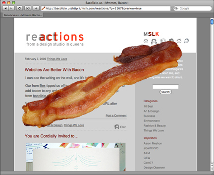 Websites Are Better With Bacon