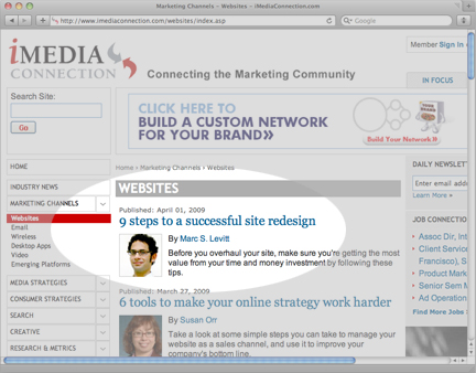 Nine Steps to A Successful Site Redesign