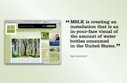 "MSLK's ""Watershed"" Installation Gets Blog Coverage"