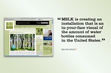"""MSLK's """"Watershed"""" Installation Gets Blog Coverage"""