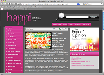 "MSLK's ""Social Media: Marketing for the 21st Century"" featured in Happi Magazine"