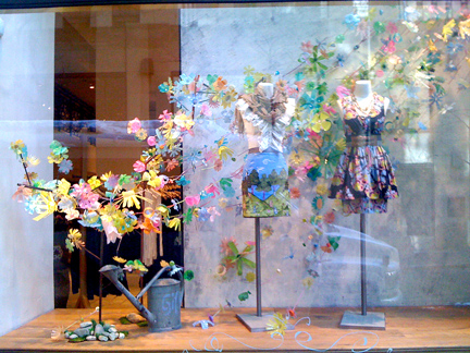 Anthropologie Windows Combine: Recycled Plastic, Social Media, and Customers
