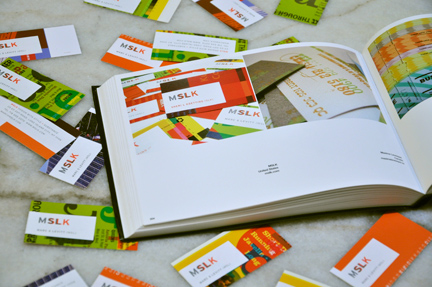 MSLK's Business Cards Featured in New Book About Designer's Business Cards