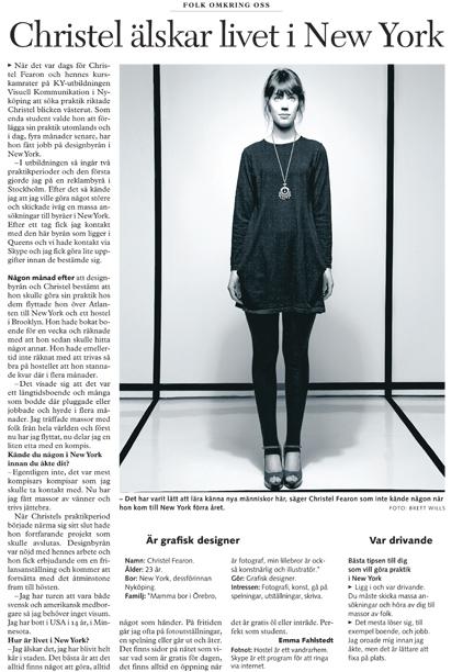 MSLK Designer Christel Fearon gets Recognized in Swedish Media
