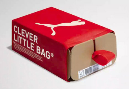 "Puma Redesigns Shoebox into ""Clever Little Bag"""