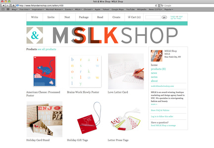 MSLK's New Shop on Felt & Wire
