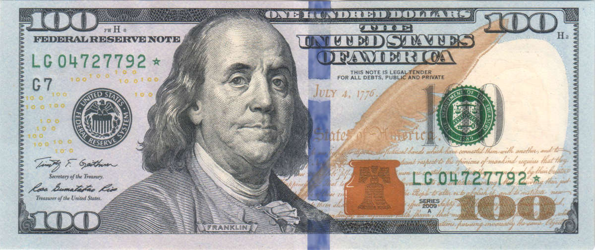 New Hundred Dollar Bill Design Looks Cheap To Me