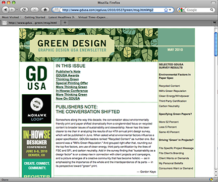 Graphic Design USA Newsletter Features MSLK's Take Less Installation