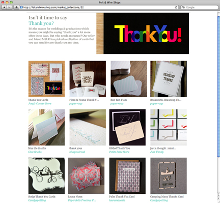 MSLK's Top 12 Thank You Cards on Felt&Wire