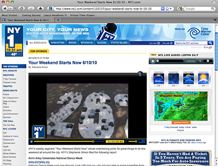 NY1 Runs Feature on MSLK's Take-Less Installation