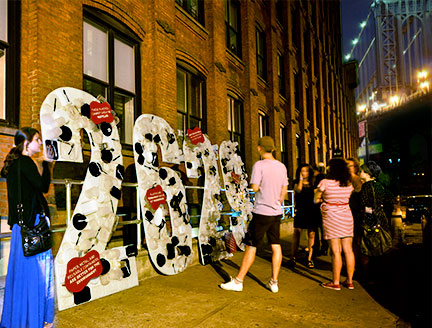 Photos of Take-Less at the Dumbo Arts Festival This Past Weekend