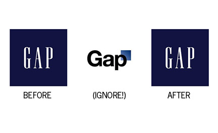 A Serious Communition Gap in the New GAP Logo