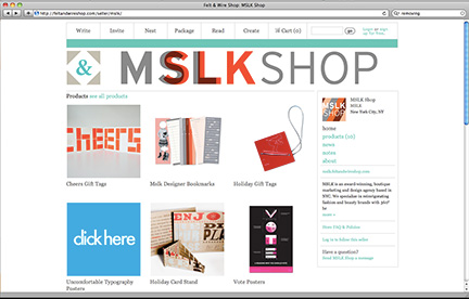 The MSLK Shop is Open For Business at Felt & Wire!
