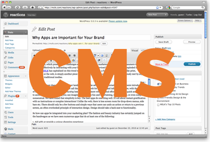 Update Your Own Website with a Content Management System (CMS)