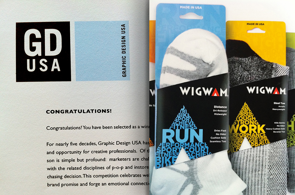 MSLK's New Wigwam Performance Sock Packaging Wins Studio's 2nd American Graphic Design Award