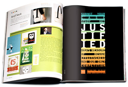MSLK Designs Identity for AIGA's 2012 Competition: Justified