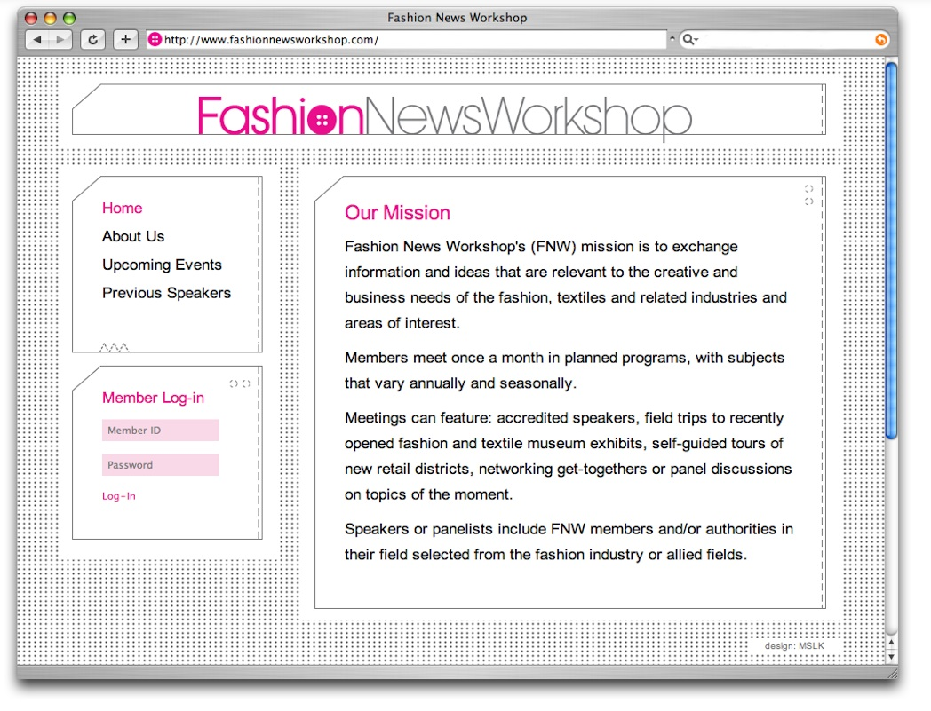 Fashion News Workshop: Website