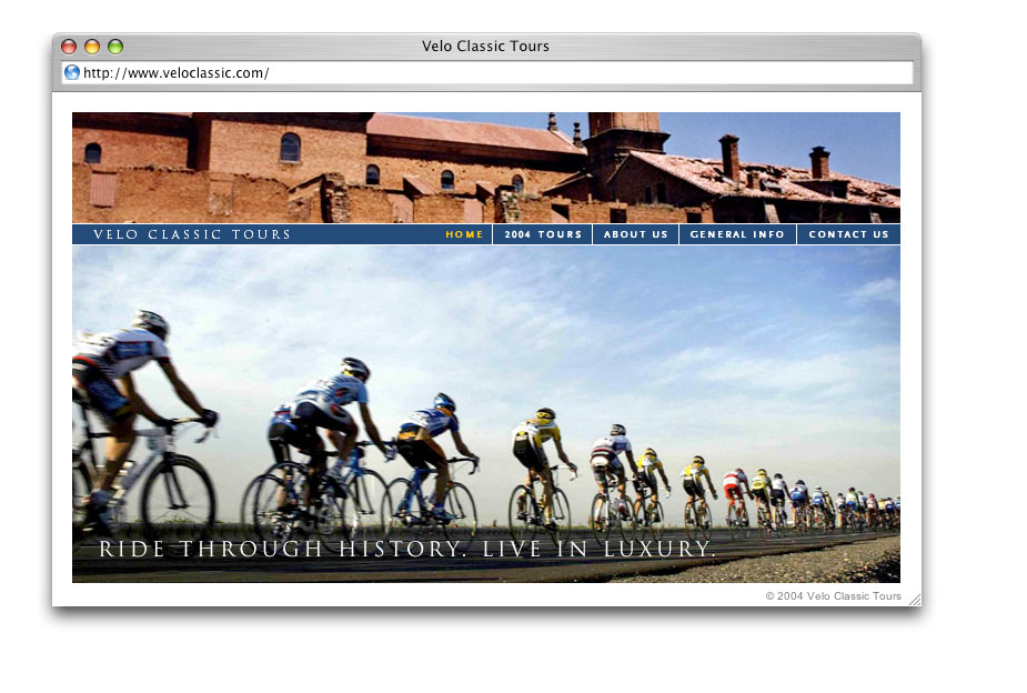 Velo Classic Tours: Website