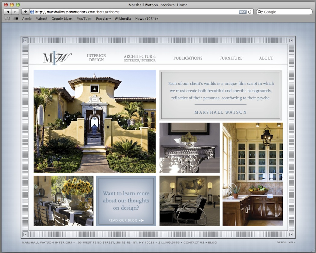 Marshall Watson: Website