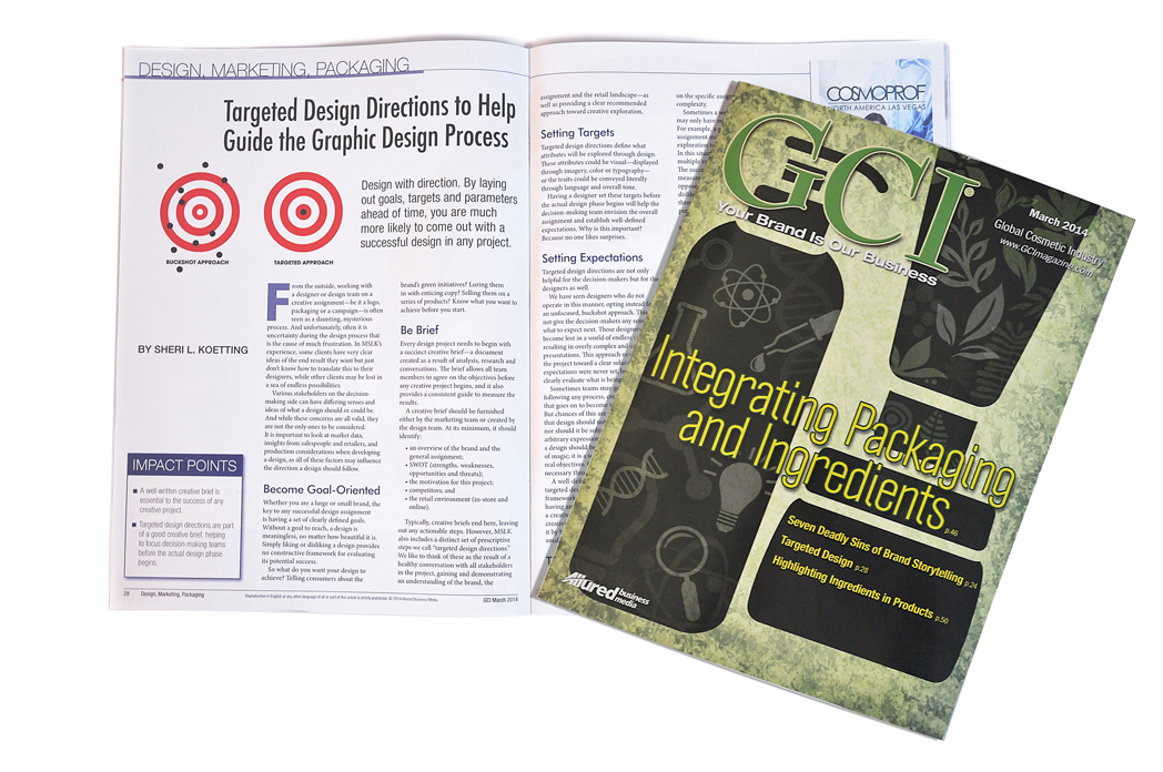 GCI Article: Targeted Design Directions to Help Guide the Graphic Design Process
