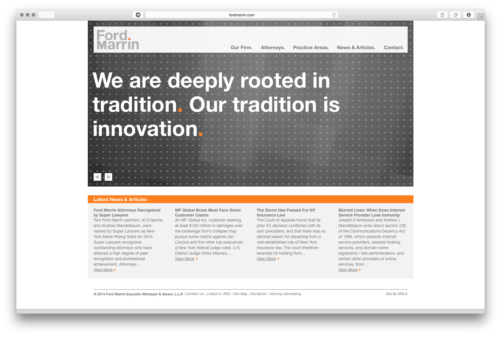 Ford-marrin-website-mslk-homepage