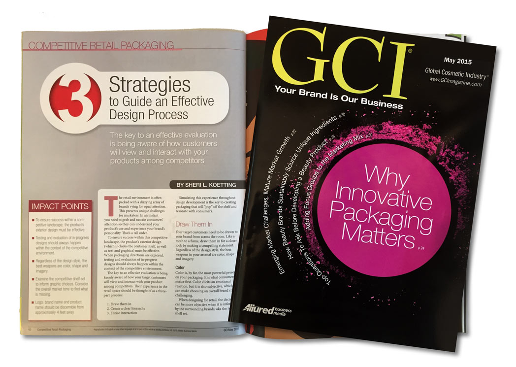 GCI Article: Competitive Retail Packaging: 3 Strategies to Guide an Effective Design Process