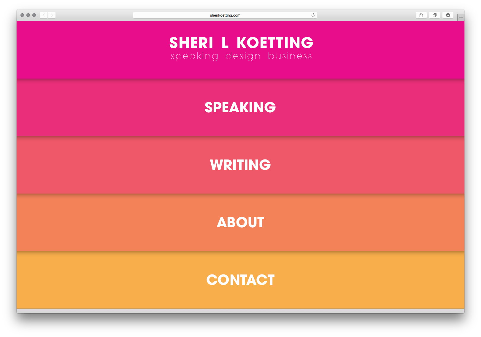 Sheri L Koetting Speaker Website