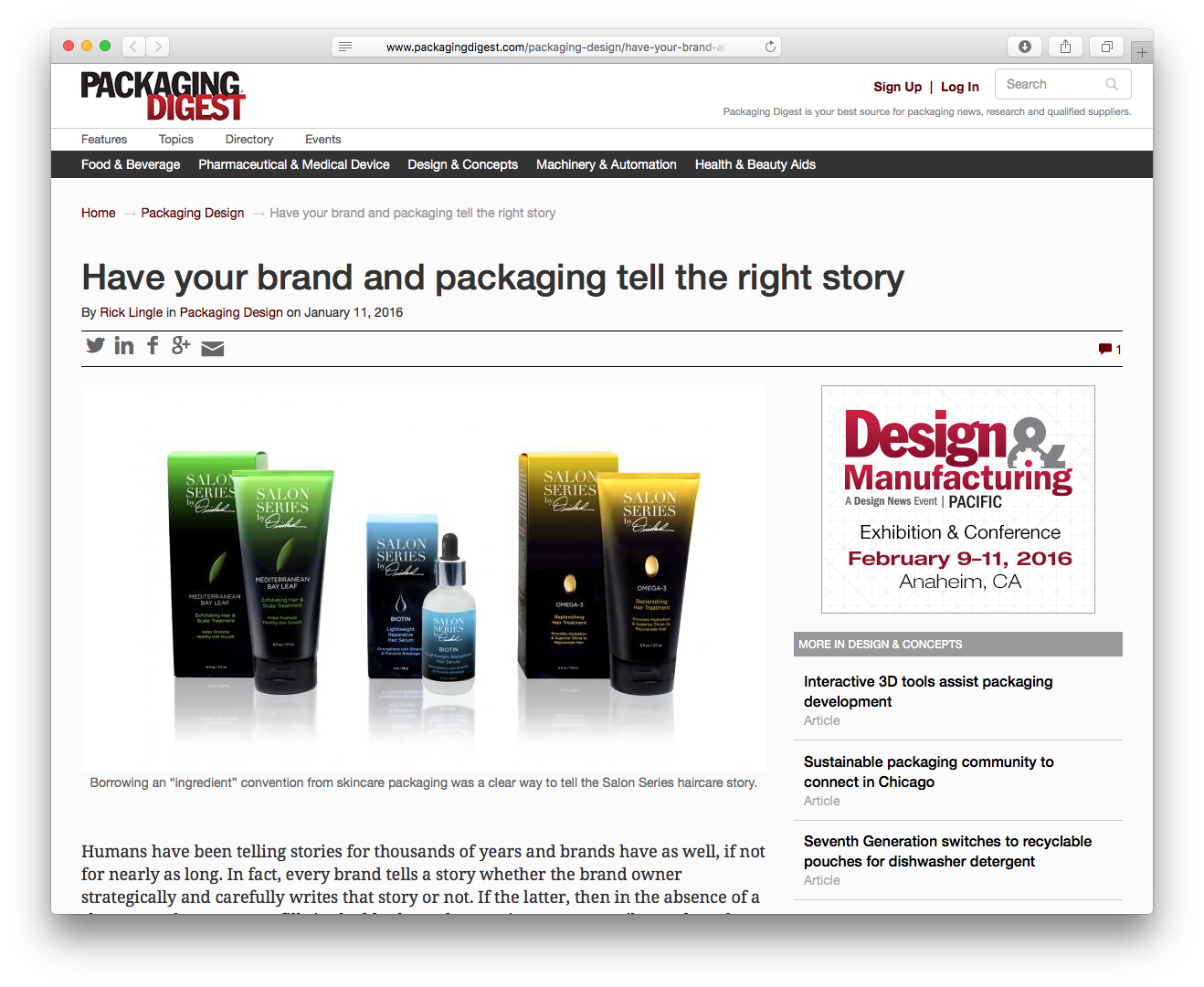 Sheri Koetting Interviewed for Packaging Digest