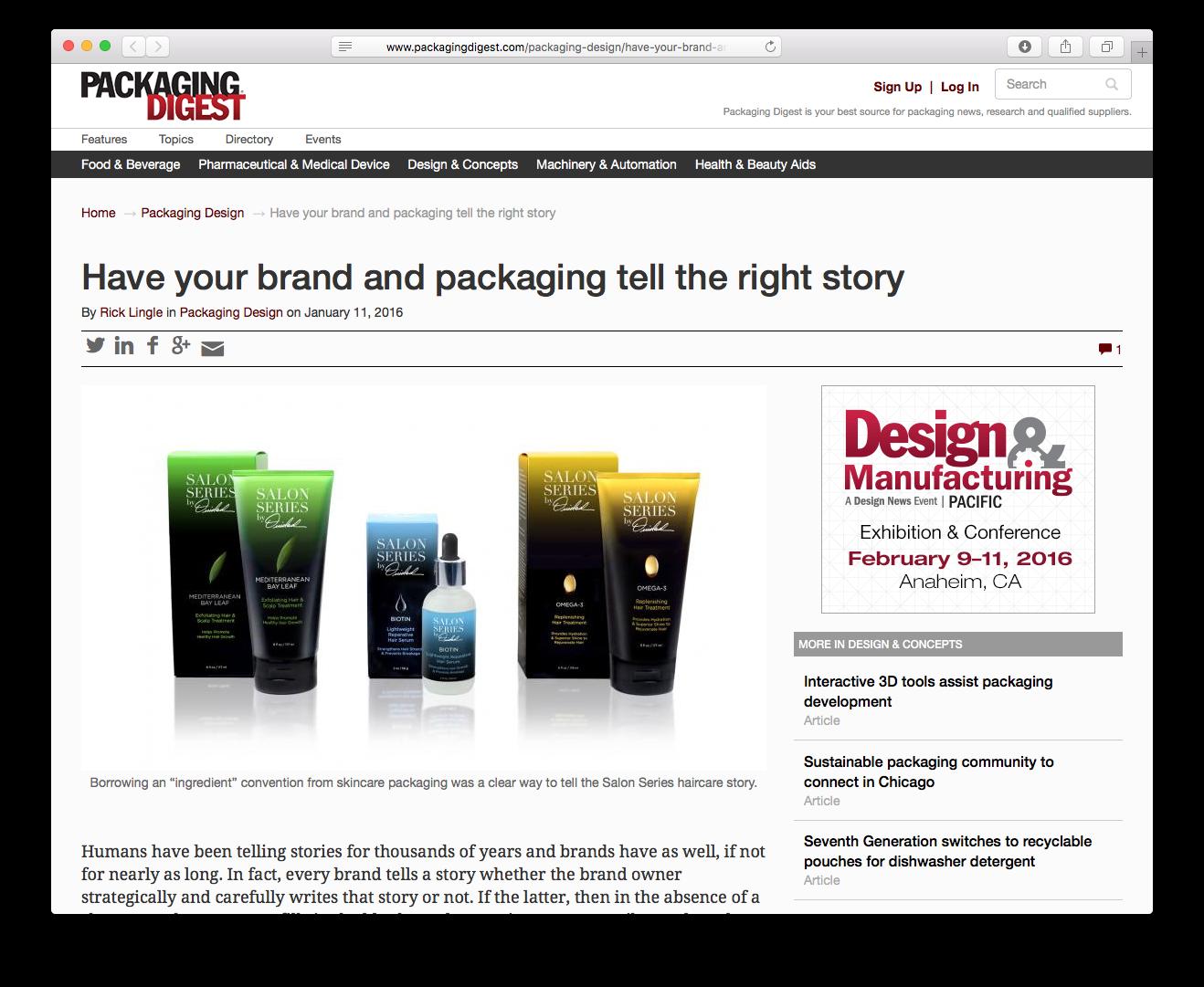 Sheri Koetting Interviewed for Packaging Digest
