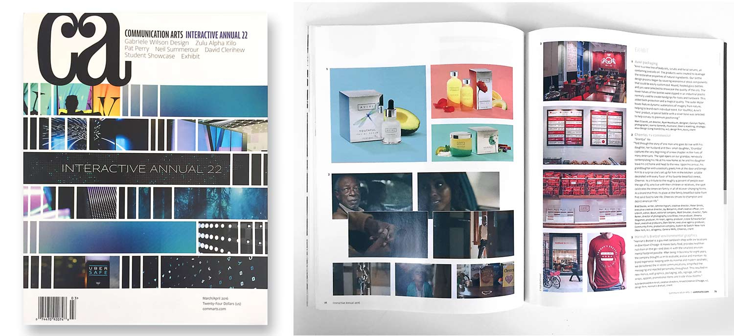 MSLK's Packaging Design for Avivi Featured in March/April Issue of Communication Arts