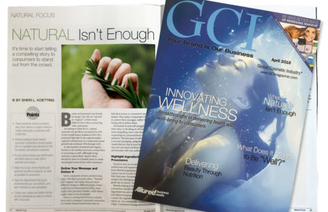GCI ARTICLE: Natural Isn't Enough